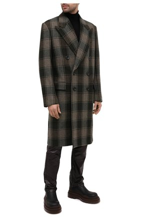 Мужской шерстяное пальто DRIES VAN NOTEN хаки цвета, арт. 202-20209-1132 | Фото 2