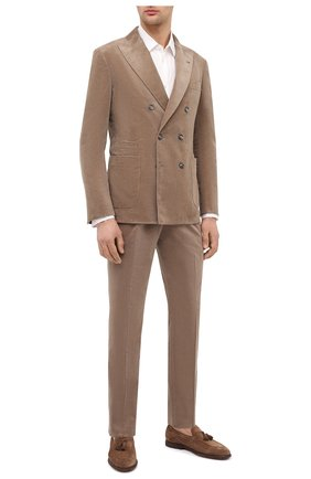 Мужской хлопковый костюм BRUNELLO CUCINELLI бежевого цвета, арт. ML462LDBHA   Фото 1