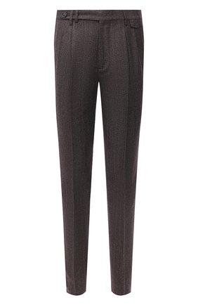 Мужские шерстяные брюки BRUNELLO CUCINELLI коричневого цвета, арт. ME244E1920   Фото 1
