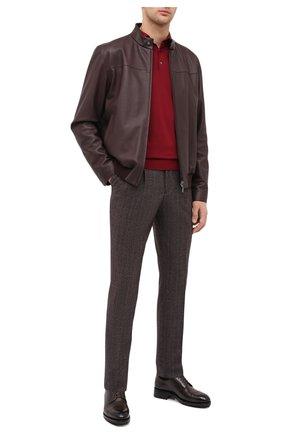 Мужские шерстяные брюки BRUNELLO CUCINELLI коричневого цвета, арт. ME244E1920   Фото 2