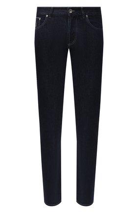 Мужские джинсы BRUNELLO CUCINELLI темно-синего цвета, арт. ME228D2220 | Фото 1