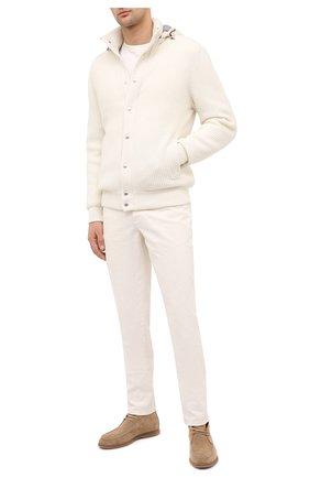 Мужские джинсы BRUNELLO CUCINELLI белого цвета, арт. M268DI1780 | Фото 2