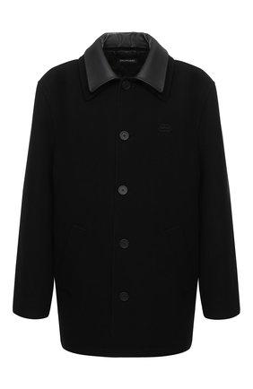 Мужской пальто из шерсти и кашемира BALENCIAGA черного цвета, арт. 626314/TIU07 | Фото 1