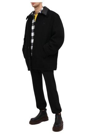 Мужской пальто из шерсти и кашемира BALENCIAGA черного цвета, арт. 626314/TIU07 | Фото 2