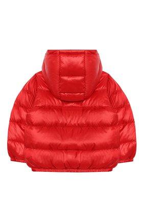 Детского пуховая куртка MOSCHINO красного цвета, арт. MXS015/L3A32 | Фото 2