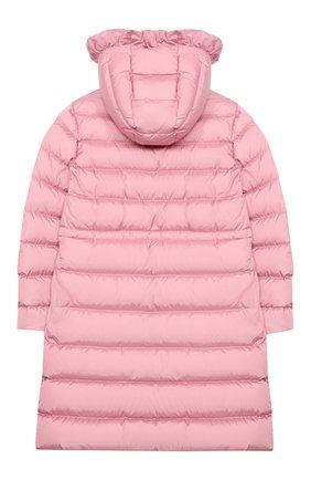 Детское пуховое пальто MONCLER светло-розового цвета, арт. F2-954-1C508-10-54155/8-10A | Фото 2