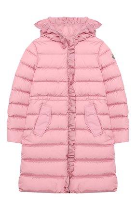 Детское пуховое пальто MONCLER светло-розового цвета, арт. F2-954-1C508-10-54155/12-14A | Фото 1