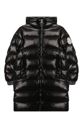 Детское пуховое пальто MONCLER черного цвета, арт. F2-954-1C514-20-68950/8-10A | Фото 1