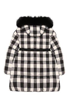 Детское пуховое пальто MONCLER черно-белого цвета, арт. F2-954-1C511-12-539YJ/12-14A | Фото 2