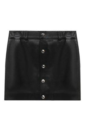Детская кожаная юбка PHILIPP PLEIN черного цвета, арт. F20C GLV0013 PLE002N | Фото 1
