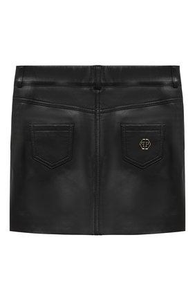 Детская кожаная юбка PHILIPP PLEIN черного цвета, арт. F20C GLV0013 PLE002N | Фото 2
