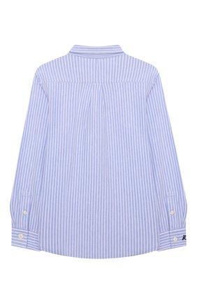 Детская хлопковая рубашка POLO RALPH LAUREN голубого цвета, арт. 322799249 | Фото 2 (Рукава: Длинные; Материал внешний: Хлопок; Стили: Классический)
