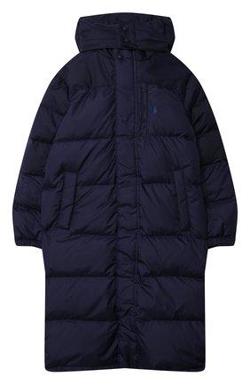 Детское пуховое пальто POLO RALPH LAUREN синего цвета, арт. 323797764 | Фото 1