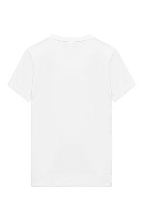 Детская хлопковая футболка DSQUARED2 белого цвета, арт. DQ04BS-D00X0 | Фото 2