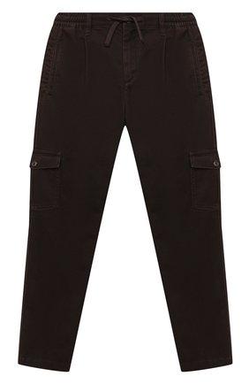 Детские хлопковые брюки DOLCE & GABBANA темно-коричневого цвета, арт. L43P46/LT367/8-14 | Фото 1