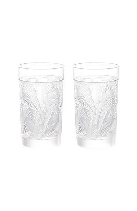 Мужского набор из 2-х стаканов для сока owl LALIQUE прозрачного цвета, арт. 1731000 | Фото 1