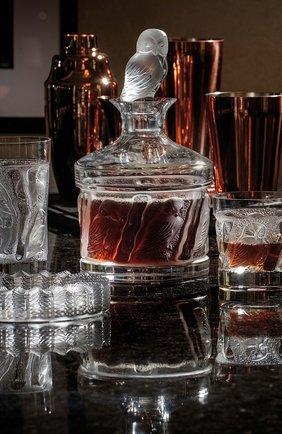 Мужского набор из 2-х стаканов для сока owl LALIQUE прозрачного цвета, арт. 1731000 | Фото 2