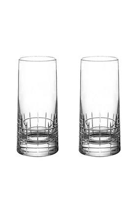 Набор из 2-х стаканов для сока graphik CHRISTOFLE прозрачного цвета, арт. 07945270   Фото 1