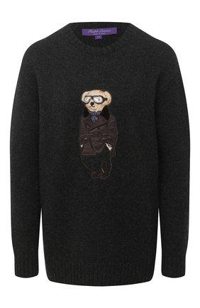 Женский кашемировый пуловер RALPH LAUREN темно-серого цвета, арт. 290830437 | Фото 1