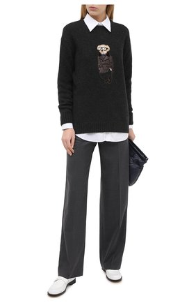 Женский кашемировый пуловер RALPH LAUREN темно-серого цвета, арт. 290830437 | Фото 2