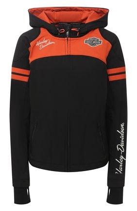 Женская куртка genuine motorclothes HARLEY-DAVIDSON черного цвета, арт. 98408-19VW | Фото 1