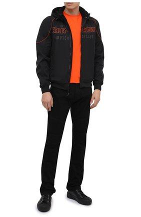 Мужской бомбер genuine motorclothes HARLEY-DAVIDSON черного цвета, арт. 98555-15VM | Фото 2 (Материал внешний: Синтетический материал; Длина (верхняя одежда): Короткие; Рукава: Длинные; Мужское Кросс-КТ: Верхняя одежда; Кросс-КТ: Куртка)