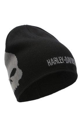 Мужская хлопковая шапка genuine motorclothes HARLEY-DAVIDSON черного цвета, арт. 99472-10VM | Фото 1