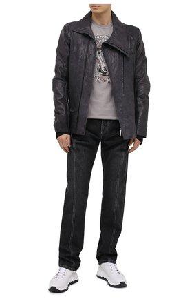 Мужская хлопковая футболка exclusive for moscow HARLEY-DAVIDSON светло-серого цвета, арт. R003702 | Фото 2