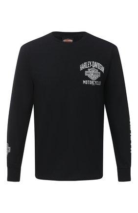 Мужская хлопковый лонгслив exclusive for moscow HARLEY-DAVIDSON черного цвета, арт. R003709 | Фото 1
