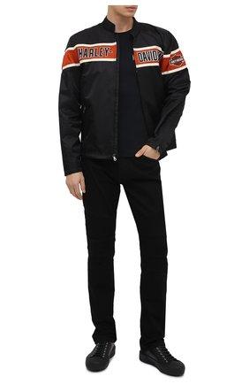 Мужская хлопковый лонгслив exclusive for moscow HARLEY-DAVIDSON черного цвета, арт. R003709 | Фото 2