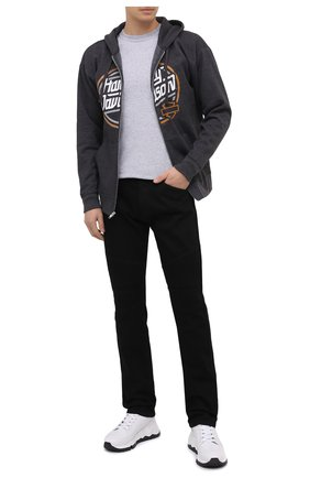 Мужская хлопковый лонгслив exclusive for moscow HARLEY-DAVIDSON светло-серого цвета, арт. R003718 | Фото 2