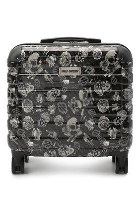 Мужской дорожный чемодан HARLEY-DAVIDSON черно-белого цвета, арт. 99916 17''   Фото 1