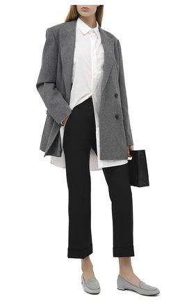 Женские замшевые лоферы babbuccia RUBEUS MILANO серого цвета, арт. RU4/5 | Фото 2