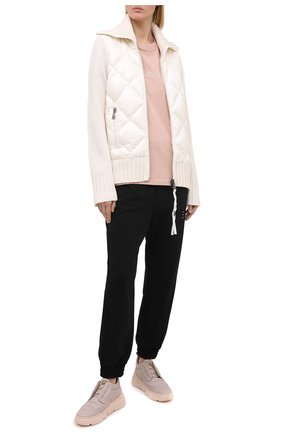 Женский шерстяной кардиган MONCLER белого цвета, арт. F2-093-9B516-00-A9197 | Фото 2