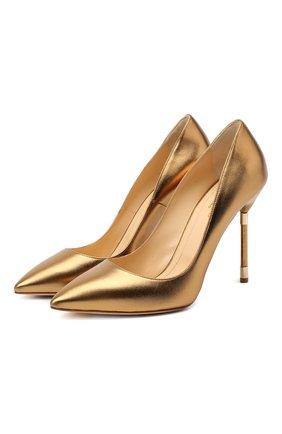 Женская кожаные туфли RUBEUS MILANO бронзового цвета, арт. RU21 | Фото 1