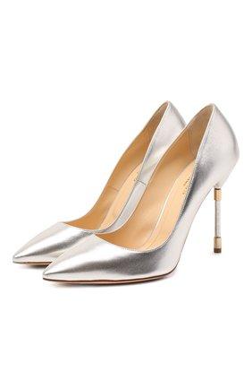 Женские текстильные туфли RUBEUS MILANO серебряного цвета, арт. RU21 | Фото 1