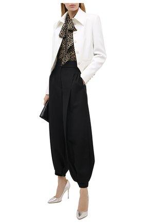 Женские текстильные туфли RUBEUS MILANO серебряного цвета, арт. RU21 | Фото 2