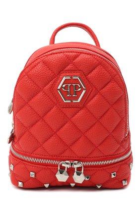 Женский рюкзак PHILIPP PLEIN красного цвета, арт. F20A WBA1298 PLE053N | Фото 1