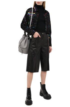 Женская джинсовая куртка PHILIPP PLEIN черного цвета, арт. F20C WDB0405 PDE004N | Фото 2