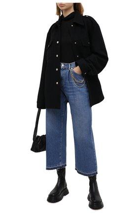 Женские джинсы ERMANNO ERMANNO SCERVINO голубого цвета, арт. 47T JL23 JNF   Фото 2