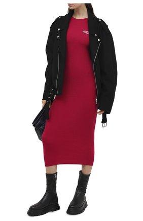 Женское шерстяное платье ICEBERG фуксия цвета, арт. 20I I2P0/AH01/7010 | Фото 2