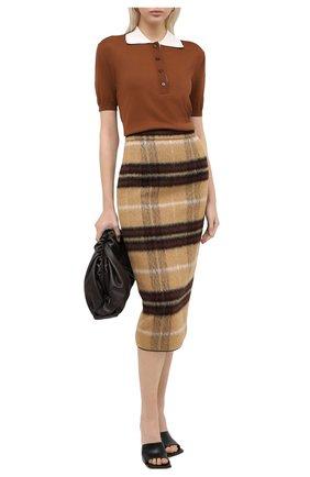 Женское шерстяное поло BURBERRY бежевого цвета, арт. 4566980   Фото 2
