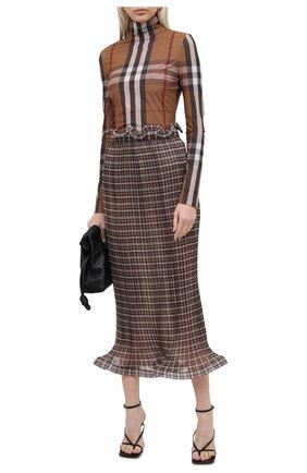 Женская водолазка BURBERRY коричневого цвета, арт. 4566771 | Фото 2