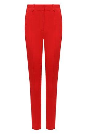 Женские брюки BURBERRY красного цвета, арт. 4566334 | Фото 1