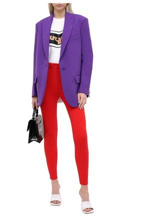 Женские брюки BURBERRY красного цвета, арт. 4566334 | Фото 2