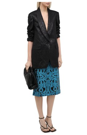 Женский жакет из шерсти и шелка DRIES VAN NOTEN черного цвета, арт. 202-10439-1346 | Фото 2