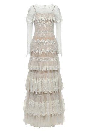 Женское платье ZUHAIR MURAD белого цвета, арт. DRP20038/LMIX007 | Фото 1