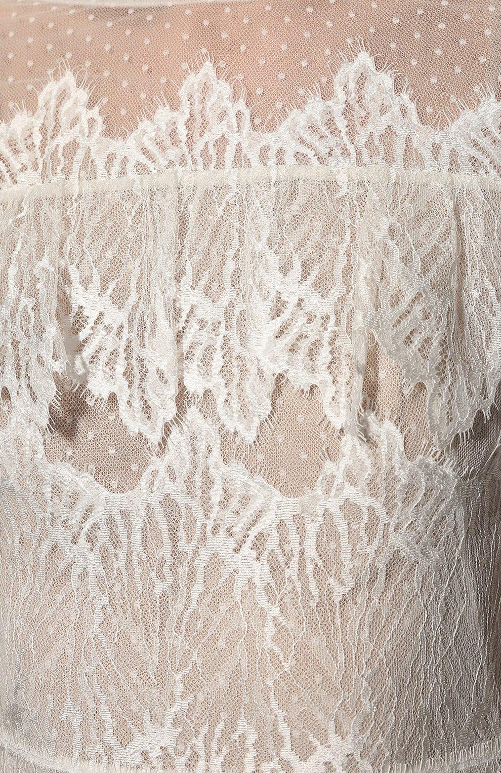 Женское платье ZUHAIR MURAD белого цвета, арт. DRP20038/LMIX007   Фото 5 (Материал внешний: Шелк, Синтетический материал; Рукава: Длинные; Стили: Романтичный; Материал подклада: Шелк; Женское Кросс-КТ: Платье-одежда)