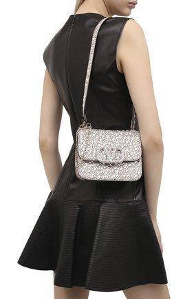 Женская сумка valentino garavani vsling VALENTINO серебряного цвета, арт. UW2B0F01/EKF | Фото 2