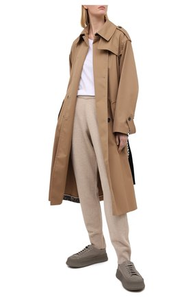 Женские шерстяные брюки JOSEPH бежевого цвета, арт. JF005054   Фото 2
